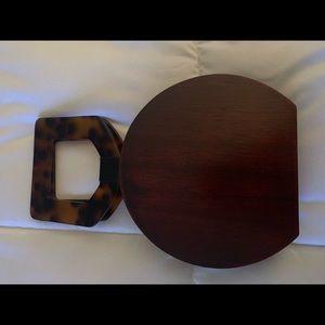 NWOT ZARA wooden crossbody bag